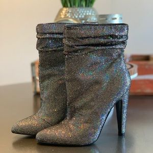 Steve Madden Holographic Booties